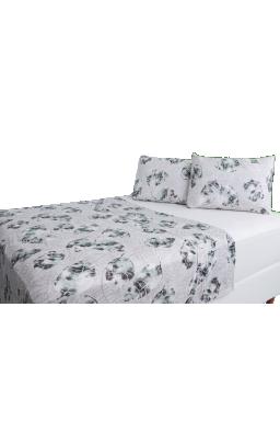 jogo de cama king folhas bege malha 100 algodao penteado 004