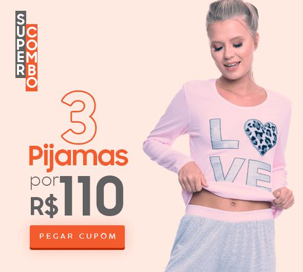 3 pijamas por 110