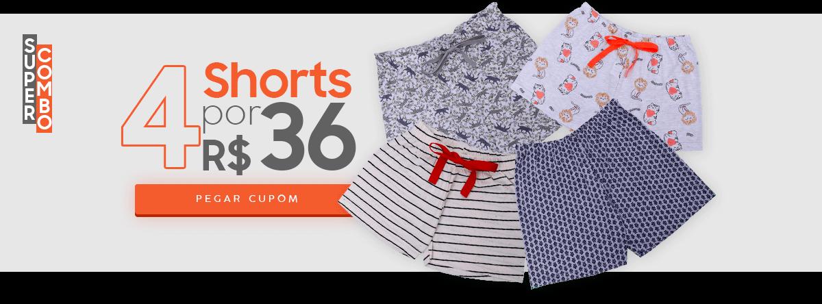 4 shorts por 36